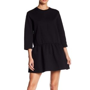 ALLSAINTS Niki Mini Sweatshirt Dress Black